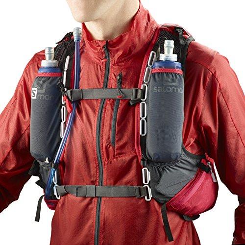 Salomon, Sac à dos léger (Taille unique) pour la course à pied et la randonnée pédestre ou à vélo, SKIN PRO SET Rosso/Nero