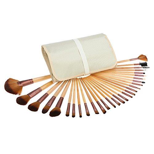 Abody 29pcs Kit Pinceau de Maquillage Brosses Cosmétique avec un Sac Brosse pour Fond de Teint,Poudre Sourcil,Fard à Paupière