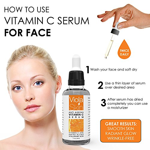 510vVI6lpQL - PREMIUM Vitamin C Serum For Face with Hyaluronic Acid Serum - Anti Ageing & Anti Wrinkle Serum - Our Customer Call It A Face Lift without the needles! This Vegan Vitamin C Serum Will Plump, Hydrate & Brighten Skin While Filling In Those Fine Lines & Wrinkles. Thin Consistency For Easy Absorption.
