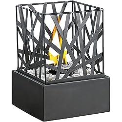 Carlo Milano Tischkamin: Tisch-Dekofeuer Feng Shui mit Steingarten (Feuerstelle)