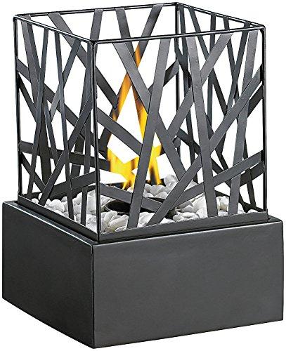 Carlo Milano Dekofeuer Garten: Tisch-Dekofeuer Feng Shui mit Steingarten (Feuerstelle)