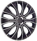 AutoStyle VOLTEC 14'' WHITE&BLACK Voltec Wheel Cover Set, 14-inch
