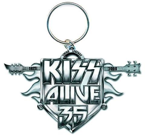 Kiss Alive 35 - Kiss–Groupe de Rock Porte-clés Métal Alive