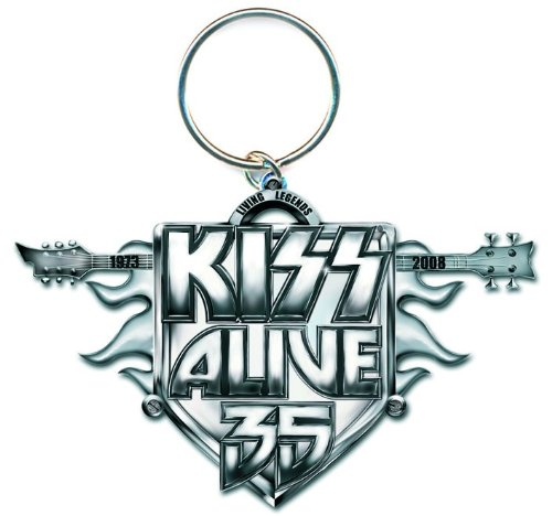 Kiss - Rock Band Metall Schlüsselanhänger Alive 35