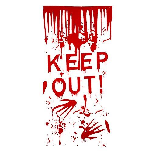 Kesoto Halloween Keep out Cubierta para Pareds y Puertas Decoración para Fiesta de Halloween Película de PVC, 50 * 120cm