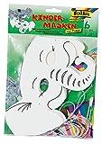 folia 23204 - Kindermasken Elefant, 6 stück, weiß