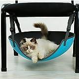 MUJING Ellipsentische Cat Hängematte Matratze Heimtierbedarf (EVA, Blau)