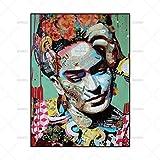 FENGJIAREN Hochauflösender Druck Poster Und Druckkunst Denken Sie Den Mann Porträt Dekoration Leinwand Gemälde Für Wohnzimmer Home Decor Kein Rahmen, 80 cm × 120 cm