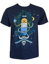 Hora de aventuras de hombre Azul Marino iluminar Tee Shirt