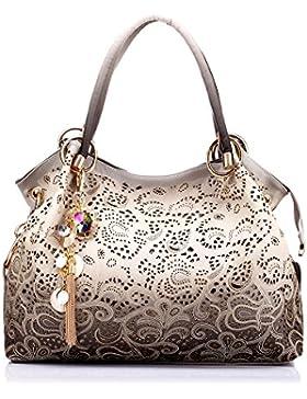 Realer Damen-Lederhandtaschen Hobo Taschen Geldbeutel mit Reißverschluss für Damen