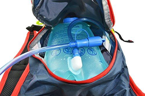 West Biking Mini Radfahren Tasche Bike Rucksack Fahrrad Wandern Daypacks + 2L BPA-frei & FDA genehmigt Wasser Tasche Trinkblase rot - rot