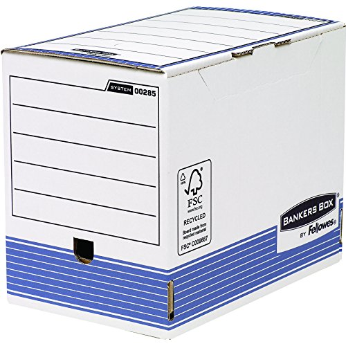 Bankers box 0028501 scatola archivio a4 system, dorso 200 mm, fsc, confezione da 10 pezzi