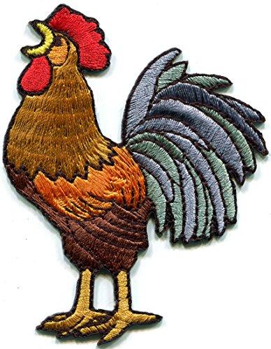 Rooster Hahn Cock Huhn Vogel Farm Vieh bestickte Applikation Bügelbild Patch New s-1315 Hahn Patch