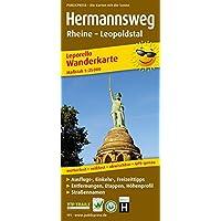 Hermannsweg, Rheine - Leopoldstal: Leporello Wanderkarte mit Ausflugszielen, Einkehr- & Freizeittipps, Straßennamen…