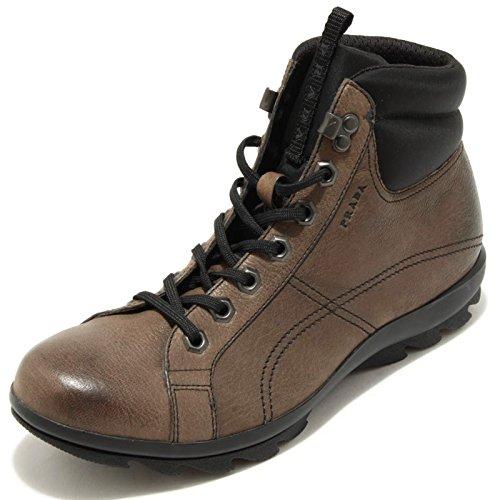 1417G sneaker alta grigio marrone tortora PRADA SPORT scarpa uomo sh marrone/grigio/tortora
