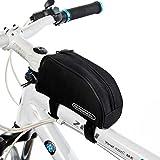 Tofern Radfahren Fahrrad Fahrrad Rahmentasche Oberrohrrahmentasche Vorderrohr Pannier - 8 Farben - Schwarz