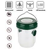Umiwe Trampa de Avispas, Repelente de Abejas Solar Mosca de Fruta Receptor Asesino con Luz LED, Atrayente para Mosquitos, Insectos y Avispones, Ideal para Jardín y Patio