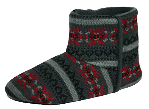 dunlop-bobby-slip-on-mens-navy-slipper-boots-navy-blue-size-medium