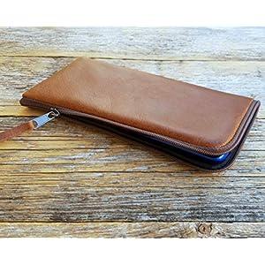 Italienisches Leder Tasche für iPhone 11 mit Reißverschluss