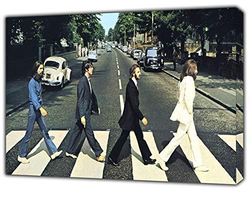 The Beatles Abbey Road Druck auf Holz, gerahmt, auf Leinwand, 30 x 24 inch-38mm depth -