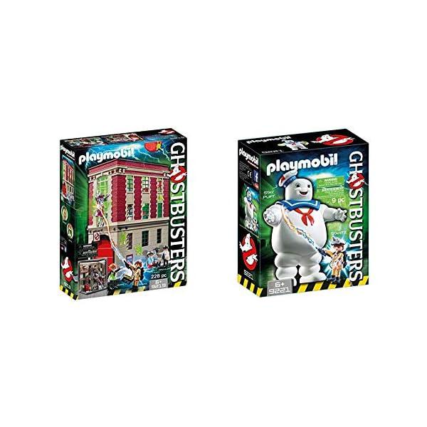 Playmobil 9219 Caserma dei Ghostbusters & 9221 Omino Marshmallow E Stantz 1 spesavip