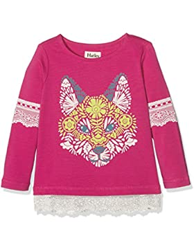 Hatley Mädchen T-Shirt Winter Fox Lace Trim Tee