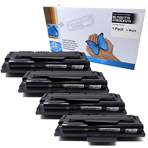 4X Toner (ersetzt ML1520/ 1710/4100/ SCX4216) für Samsung ML-1500-1755 SF-560-755P Xerox 3130-3210 SCX-4116-5216 Series -