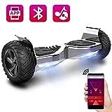 COLORWAY Hoverboard 8.5'' Selbstbalance Roller Board mit Bluetooth Lautsprecher, Mobile App und LED-Licht(Silber)