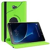 Samsung Galaxy Tab A 10.1 Hülle Case, HZSSEC 360 Grad Drehung Schutzhülle Smart PU Leder Cover Case für Samsung Tab A 10.1 2016 T580N/ T585N mit Automatische Schlaf/Wach Funktion, Grün