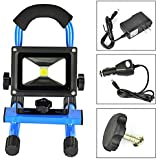 Tapetum Emergency Rechargeable LED Flood Light Portable 10 Watt 1000 Lumens 9 Hours Backup With Car Charger And AC Adapter Included Inbuilt 5200 MAh Lithium Ion Rechargeable Battery Waterproof IP65 Cordless LED Work Light Outdoor Camping Hiking Lamp, Dura
