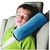 Auto Seat Gürtel kissen Schlafkissen Nackenstütze für Kinder Auto Baby Kind Sicherheitsgurt Autositz Kopfkissen Gürtel Pillow Schulterschutz (Blau)