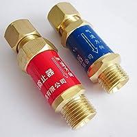 Warrior-1 coppia di ossigeno acetilene sicurezza M16 x 1,5 Riduttore per Gas e regolatore di pressione - Flashback Arrestor