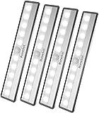 RuneSol® Luce LED notturna wireless a lampada ricaricabile usb/ 4 x 10 LED...