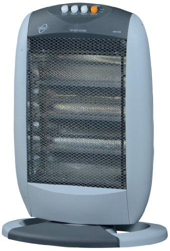 Orpat Ohh-1200 1200-watt Halogen Heater (t.grey And White)