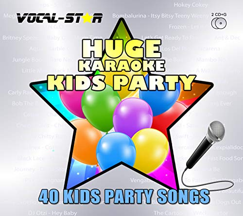 Vocal-Star Kids Party Chart Karaoke CDG CD+G Disc Set 40 Songs - 2 Discs