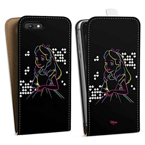 Apple iPhone 8 Tasche Hülle Flip Case Disney Alice im Wunderland Geschenke Downflip Tasche weiß