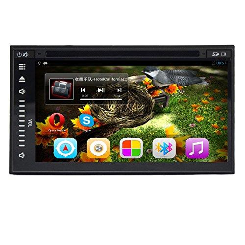in Dash Quad Core 7 pollici Android 4.4 Doppio Stereo 2 DIN autoradio Audio capo unitš€ radiofonico auto Navigatore GPS HD touch screen capacitivo Universale supporto Wifi / 3G / wifi / gps / bluetooth / dvr / 1080p / aria Play / specchio Link / sd / usb, Google Play Store - Quad Capo