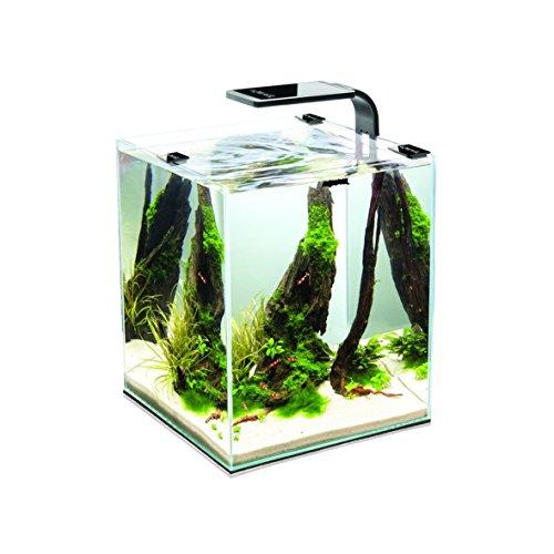 Aquael Aquarium Shrimp Set SMART LED, Komplettset mit moderner LED-Beleuchtung (schwarz, 20 Liter)