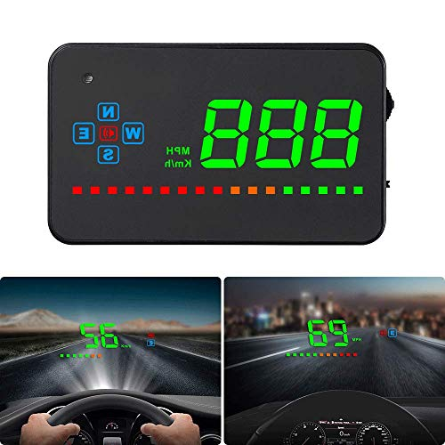 Head up Display Auto, HUD GPS iKiKin Auto HUD Display für alle Autos und LKWs, Windschild-LED-Projektor, HUD-Reflexionsfilm, Geographisches Positionierungs System Tachometer, Plug & Play