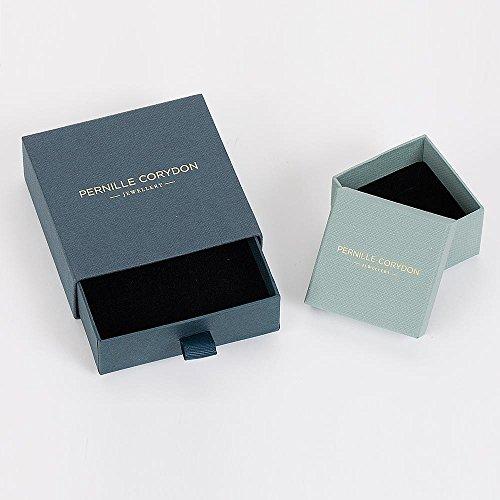 Pernille Corydon Damen Ring Gold Saga gehämmerte Oberfläche breiter Damenring mit Vertiefung Matt 925 Silber vergoldet - Größe 57 - R411g-57