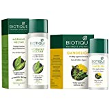 Biotique Morning Nectar Flawless Skin Lotion for All Skin Types, 190ml and Biotique Bio Dandelion Visibly Ageless Serum, 40 ml