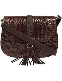 Jl Collections Women's Leather Brown Shoulder Sling Bag