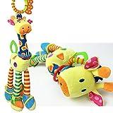Giraffe Rassel Schellenring Plüsch Spielzeug Infant Musical Entwicklung Spielzeug für Kinderbett, Kinderwagen, Stuhl, Auto