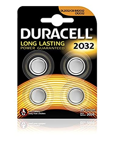 Duracell Specialty Typ 2032 Lithium Knopfbatterie, 4er Pack