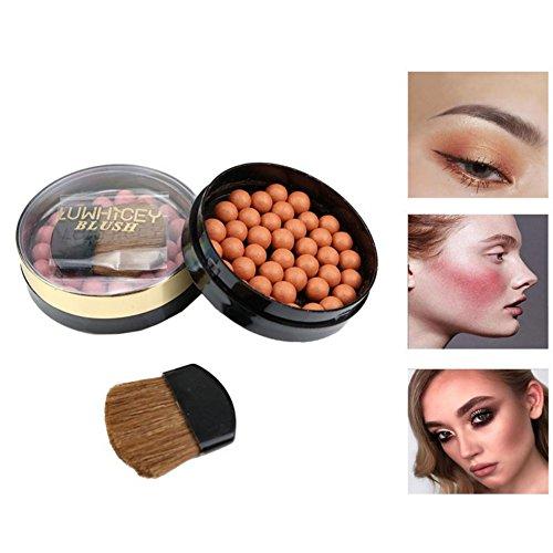 Allbesta Glow Bronzing Pearls Bronzed Ball Blusher Rouge Contouring Palette Wasserfest Langlebige Pigmente -