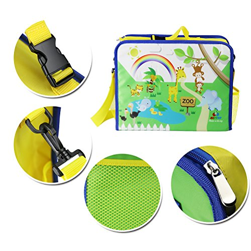 Kids Travel Tray Car Organiser,KIPTOP Children Snack and Play Tray for Car Bus Train and Plane Journeys