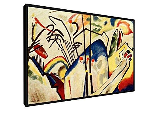Wassily Kandinsky - Komposition IV - 60x40 cm - Leinwandbild mit Schattenfugenrahmen - Wand-Bild -...