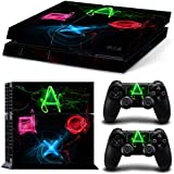 Ake Skin Sticker Cover Vinyl Decal Protector para PS4 Playstation 4 Console and Controllers -NO.1192