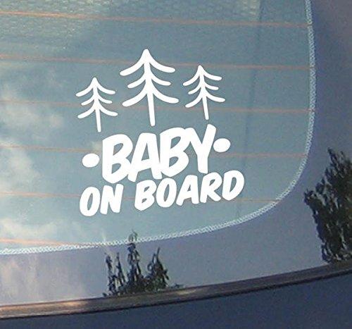 Baby On Board???Baum Natur Kiefer Trip Berge Adventure Familie, Kinder, Sport, Vinyl-Fenster Auto Aufkleber Aufkleber Laptop Aufkleber Love Herz Decor Home Live Kids Funny Art Wand Aufkleber Aufkleber - Laptop Baum Decal