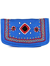 Womens Cottage Handmade Brown Cotton Small Mirror Patch Work Hand Purse for Womens/Girls
